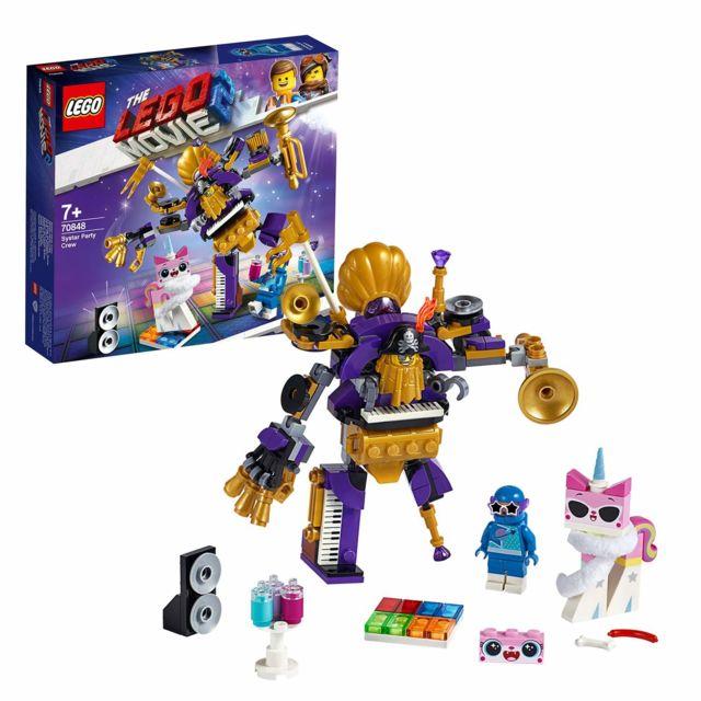 Lego Movie - Le gang de fêtards Systar, Jeu Aventure Enfant 7 Ans et Plus, 196 Pièces - 70848