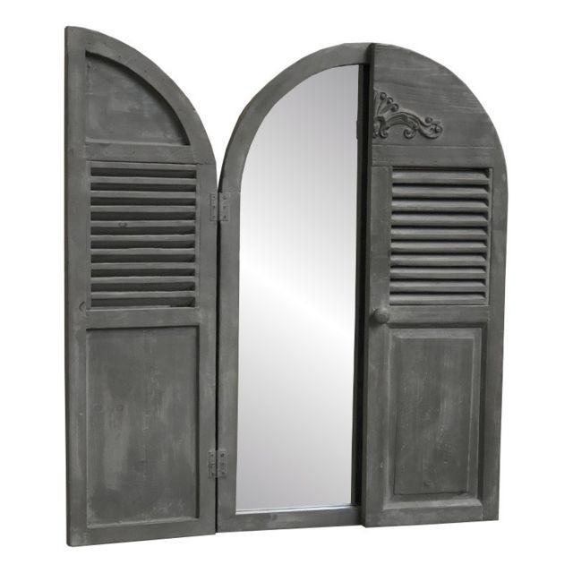 Chemin De Campagne Miroir Fenêtre Volet Persienne Prise Trumeau 89 cm