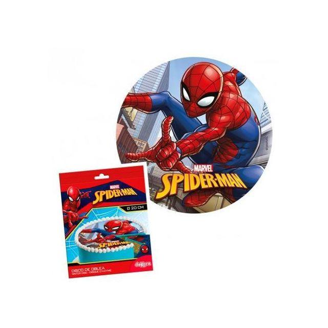 Sans Disque Azyme Spiderman 20cm Anniversaire Gouter Décoration