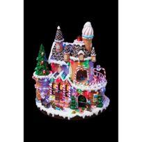 Feerie Christmas - Village de Noël Pain d'épice - Lumineux et animé