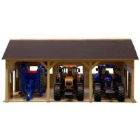 Van Manen - 610340 Kids Globe By Toys World - Hangar En Bois Pour 3 Tracteurs À L'ÉCHELLE 1:16