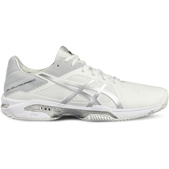 3f4508aaa4cc35 Asics - Gel-Solution Speed 2 Clay E601N-0193           Baskets Blanc ...