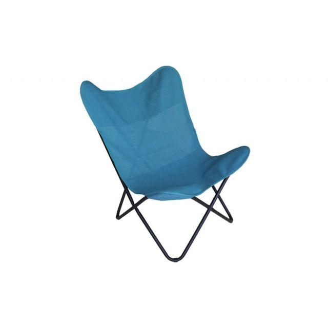 Zons - Papillon Fauteuil en Textilene Bleu 75X87XH86CM Turquoise