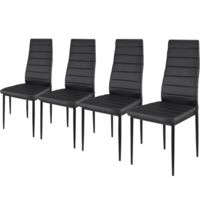 Paolo Collaner - Chaises S2 design et ultra-confort Noir - lot de 4