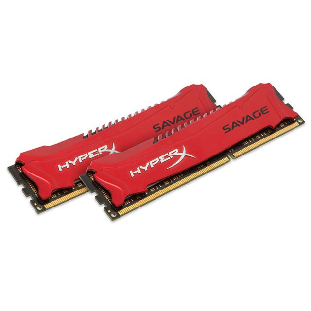 HYPERX - Mémoire SAVAGE 8Go 2 x 4 Go DDR3 PC3-19200 - 2400 MHz - CAS 11 -RED Series