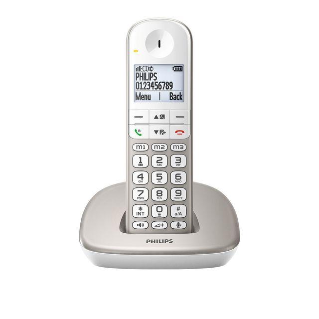 philips t l phone fixe sans fil sans r pondeur xl4901s fr pas cher achat vente t l phone. Black Bedroom Furniture Sets. Home Design Ideas