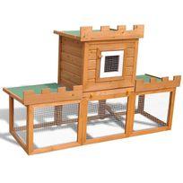 Vimeu-Outillage - Grande Cage Clapier Extérieur pour Lapins en Bois