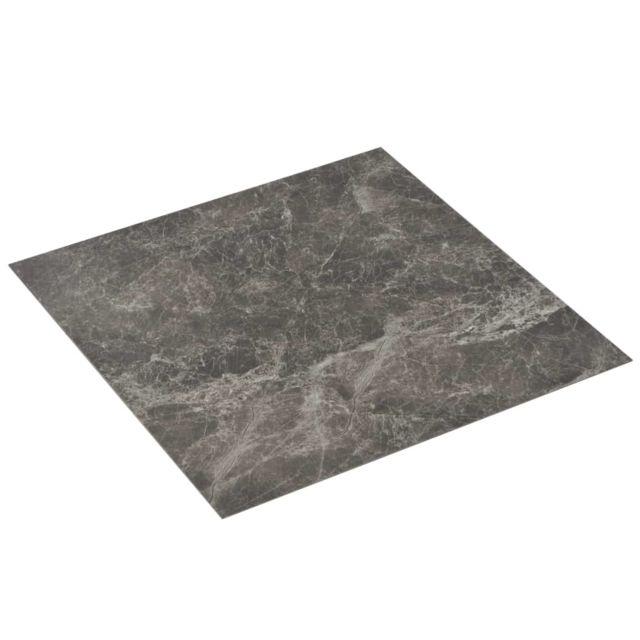 Icaverne - Tapis & revêtements de sol collection Planche de plancher PVC autoadhésif 5,11 m² Noir Marbre
