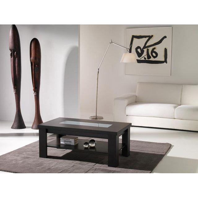 Sofamobili Table basse relevable wengé contemporaine Alva