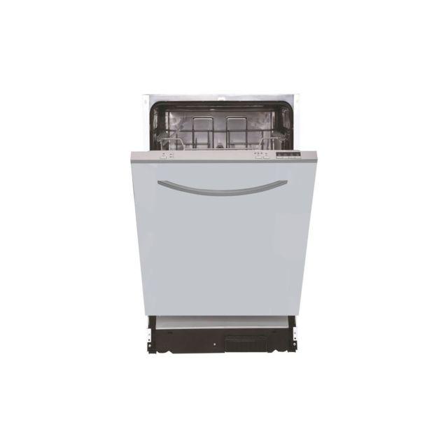 Continental Edison - Celv1047FI2 - Lave vaisselle tout encastrable - 10 couverts - 47 dB - A+ - Larg 45 cm