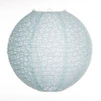 Atmosphera - Lanterne boule Ajouré - Diam. 35 cm Bleu