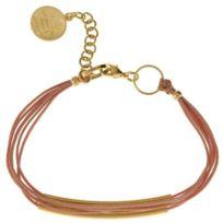 Un Jour Mon Prince - Bracelet E14B74 doré Nude