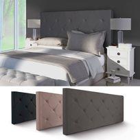 tete de lit capitonnee lin achat tete de lit capitonnee lin pas cher soldes rueducommerce. Black Bedroom Furniture Sets. Home Design Ideas