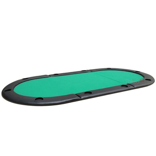 Pokeo Plateau de poker 8/10 joueurs 180x90 vert