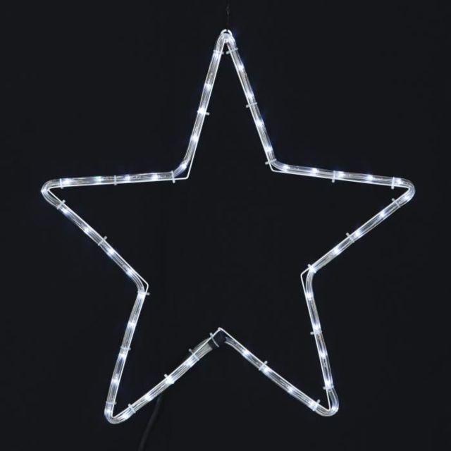 DECORATION LUMINEUSE Étoile lumineuse - 24 LED - Ø 52 cm - Blanc