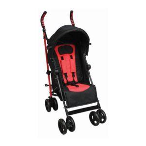 tex baby poussette canne inclinable tex noir et rouge de 6 mois 3 ans pas cher achat. Black Bedroom Furniture Sets. Home Design Ideas