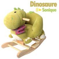 Ws - Dinosaure à bascule sonique vert