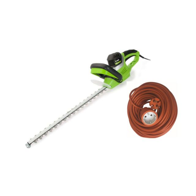 Vito Garden Taille haies électrique 600W Vitogarden Lame 59cm + Rallonge électrique 20m Protection lame et mains Dents 20mm