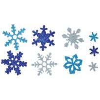 Oz International - flocons de neige en mousse de caoutchouc pailletée - lot de 240