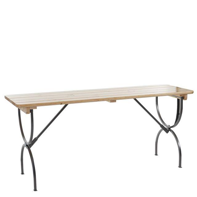 Mendler Table de jardin Linz, table de gastronomie, brasserie, laqué ~ 180 cm