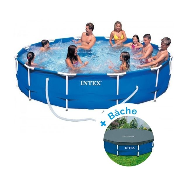 intex pack piscine tubulaire metalframe x m. Black Bedroom Furniture Sets. Home Design Ideas