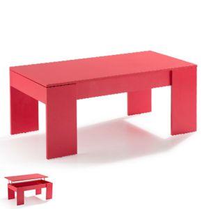 table basse relevable rouge evoplus pas cher achat vente tables basses rueducommerce. Black Bedroom Furniture Sets. Home Design Ideas