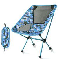 Chaises De Plage Camouflage Extérieur Portable Pliant Camping Chaise Lumière Pêche Aviation En Alliage D Aluminium Dossier Inclinable
