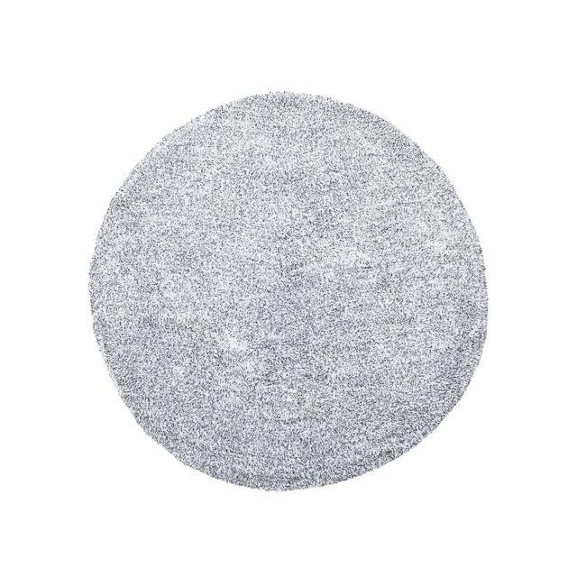 BELIANI Tapis rond en tissu poivre et sel DEMRE - gris