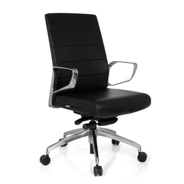 Hjh Office Chaise de bureau Provider simili cuir noir