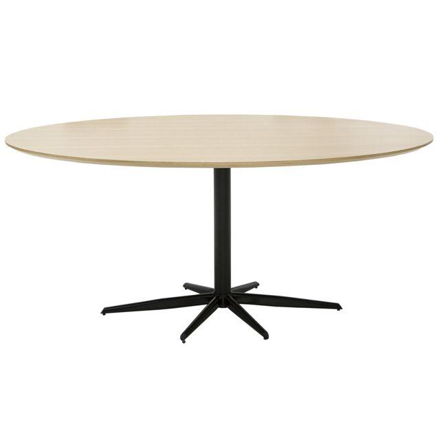 COMFORIUM Table à manger design 170 cm en MDF coloris chêne