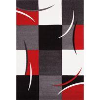 Dezenco - Tapis Diavirgule Tapis Moderne par rouge 60 x 110 cm