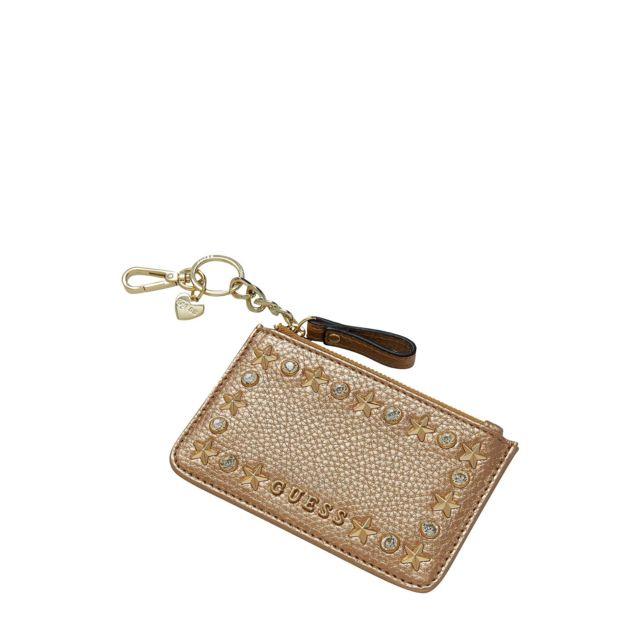 c2430751b0f7 Guess - Porte-Monnaie Femme Flat Or - pas cher Achat   Vente Porte-monnaies  - RueDuCommerce