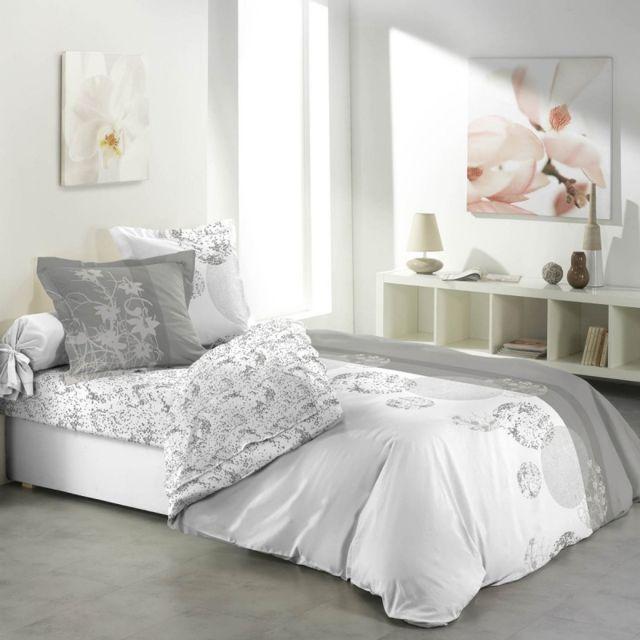 paris prix parure de draps 4 pi ces bubbles 240x300cm gris nc pas cher achat vente. Black Bedroom Furniture Sets. Home Design Ideas
