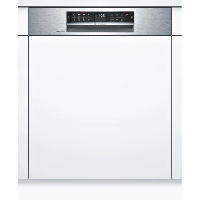 Bosch lave-vaisselle 60cm 13c 42db a++ intégrable avec bandeau inox - smi68ms07e