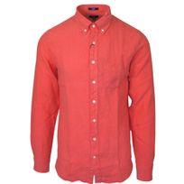 Gant - chemise rouge en lin