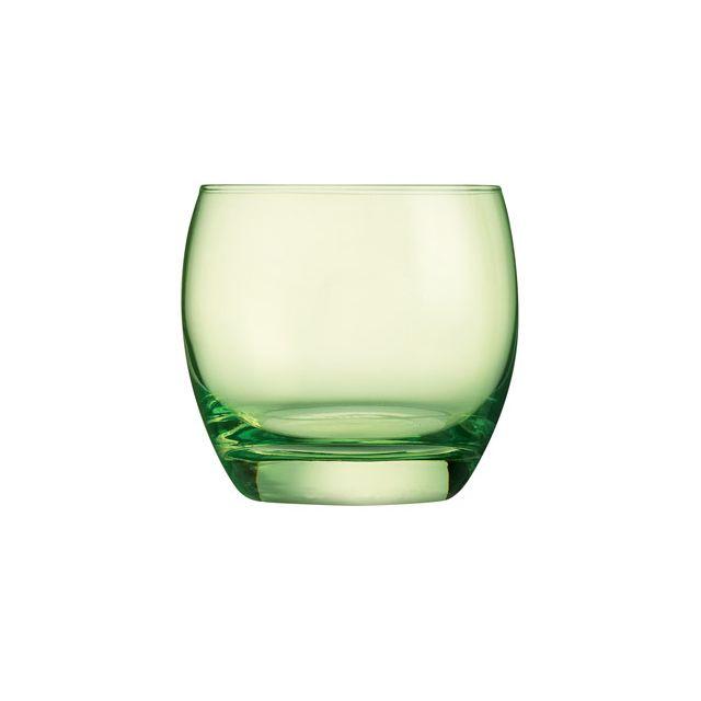 Arcoroc Gobelet forme basse - verre à eau 32cl vert studio - Lot de 6 - Salto