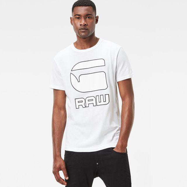 G STAR RAW T Shirt CADULOR Blanc pas cher Achat Vente