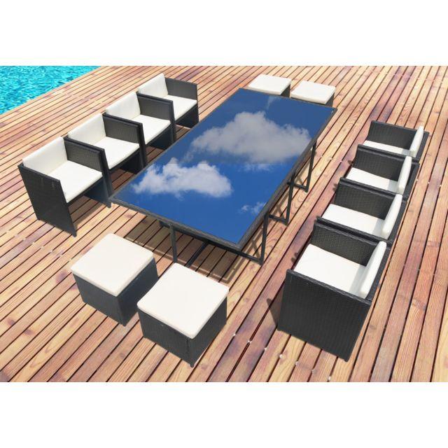 Concept Usine - Miami 12 : salon de jardin encastrable 12 personnes ...