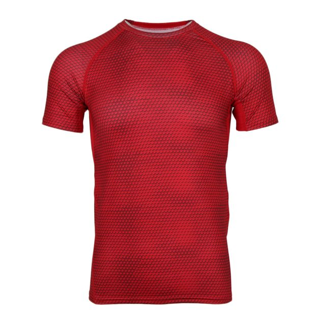 >Les hommes à séchage rapide respirant à manches courtes courir chemise gym sportswear red xl