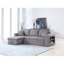 Habitat et Jardin - Canapé d'angle convertible et réversible Allen luxe - Gris - Angle gauche/droit