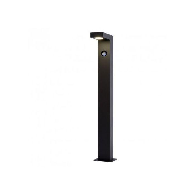 Lucide Borne lumineuse détecteur Texas H60 cm Led Ip54 - Noir