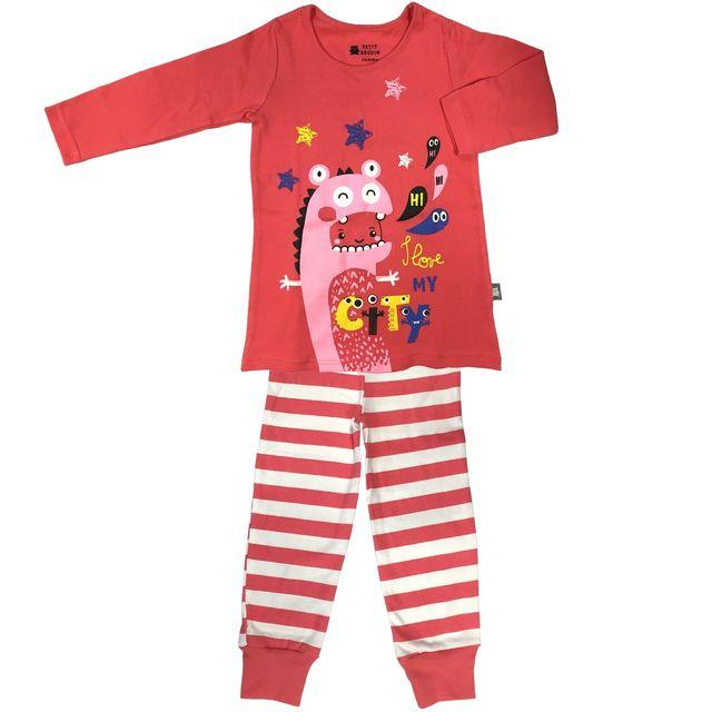 c264cb00396ea Petit Beguin - Pyjama fille manches longues My City girl - Taille - 6 8 ans  116 128 cm - pas cher Achat   Vente Pyjamas - RueDuCommerce