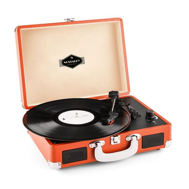 AUNA - Peggy Sue platine vinyle rétro LP USB - orange