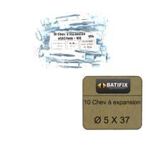 BATIFIX - Pack de 10 Chevilles à expansion M5 diamètre 5 x 37mm + Vis