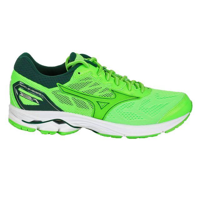 40b5d24080b Mizuno - Wave Rider 21 Verte Chaussures de running - pas cher Achat   Vente  Chaussures running - RueDuCommerce
