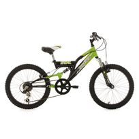 Ks Cycling - Vtt enfant tout suspendu 20'' Zodiac vert-noir Tc 31 cm