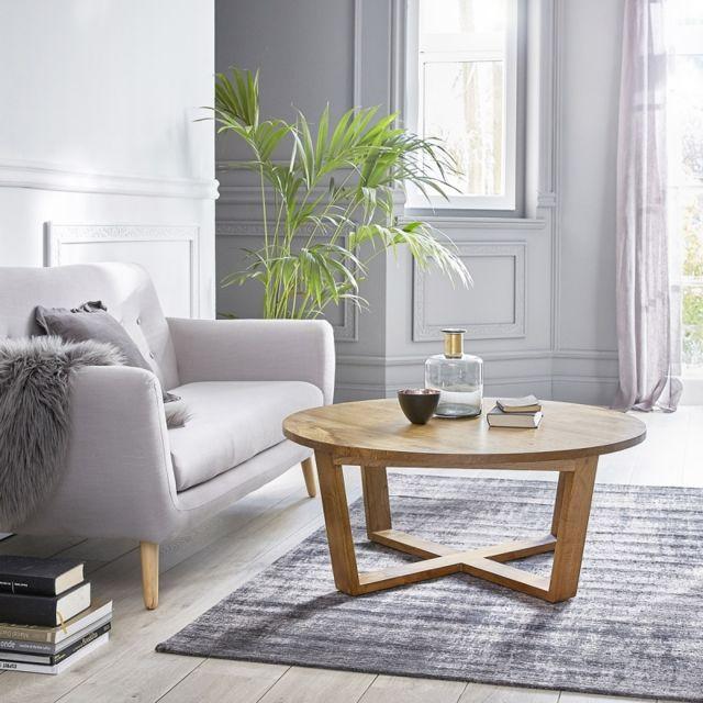 bois dessus bois dessous table basse ronde en bois de mindy pas cher achat vente tables. Black Bedroom Furniture Sets. Home Design Ideas