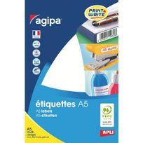 Agipa - Etiquettes adhésives 32 x 40 mm 114015 - Pochette de 288