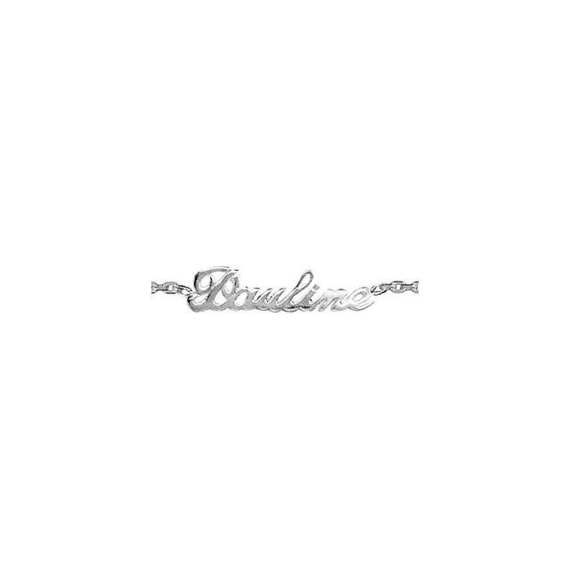 1001BIJOUX , Bracelet argent forcat decoupe anglaise 1 prenom