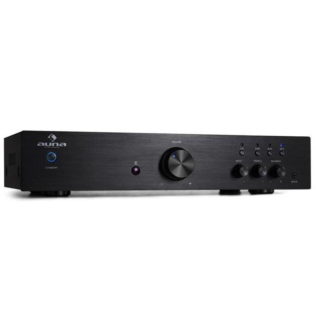 AUNA AV2-CD508 Ampli HiFi Stereo AUX Acier 600W max